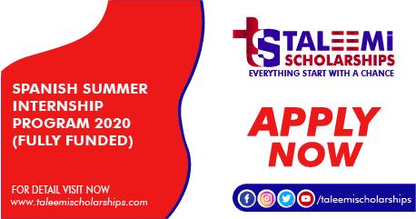 Spanish Summer Internship Program 2020 (Fully Funded)