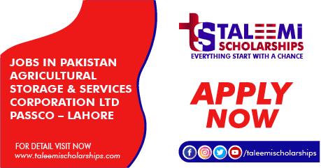 Jobs in Pakistan Agricultural Storage & Services Corporation Ltd PASSCO – Lahore