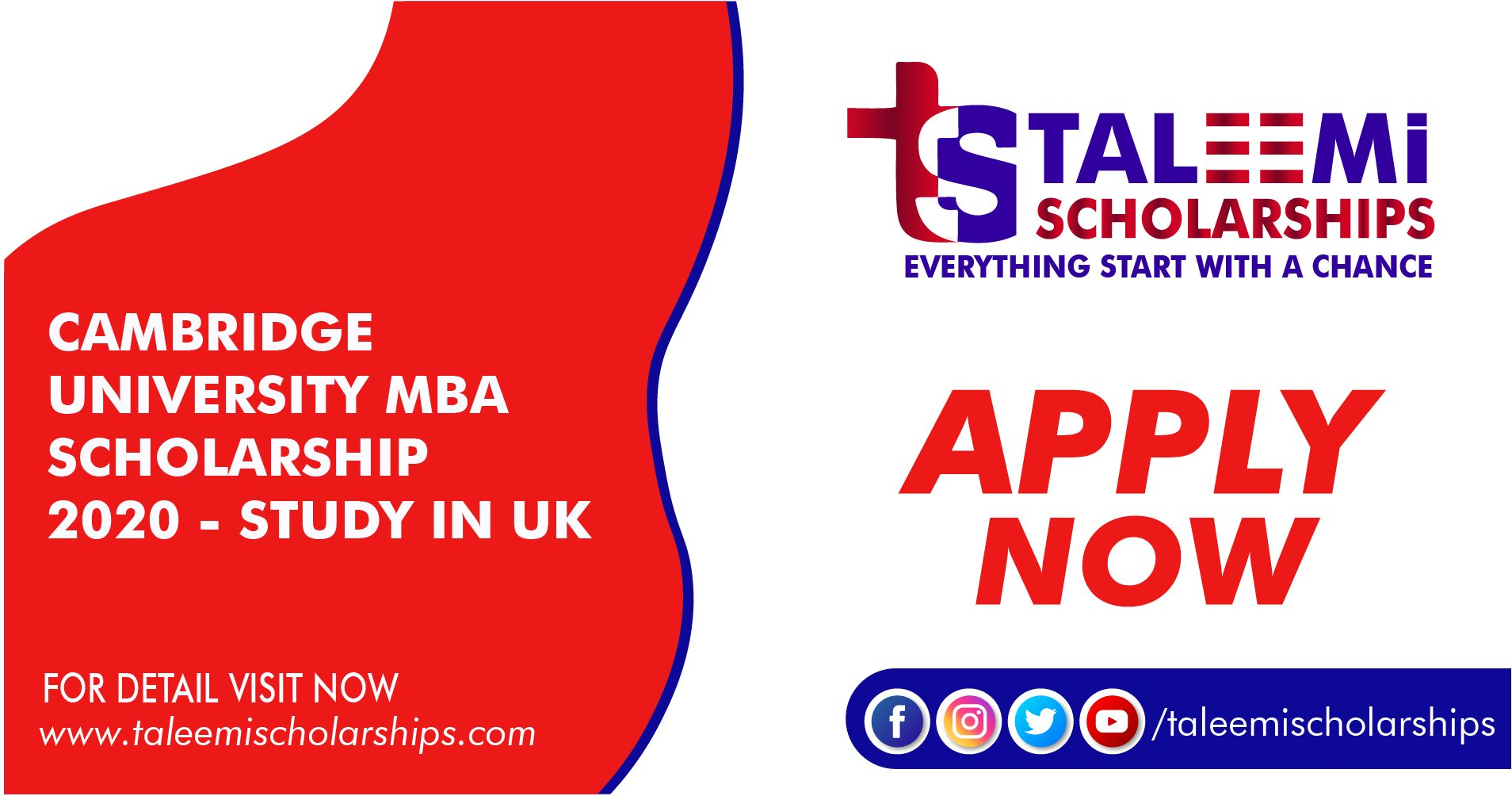CAMBRIDGE UNIVERSITY MBA SCHOLARSHIP 2020 - STUDY IN UK