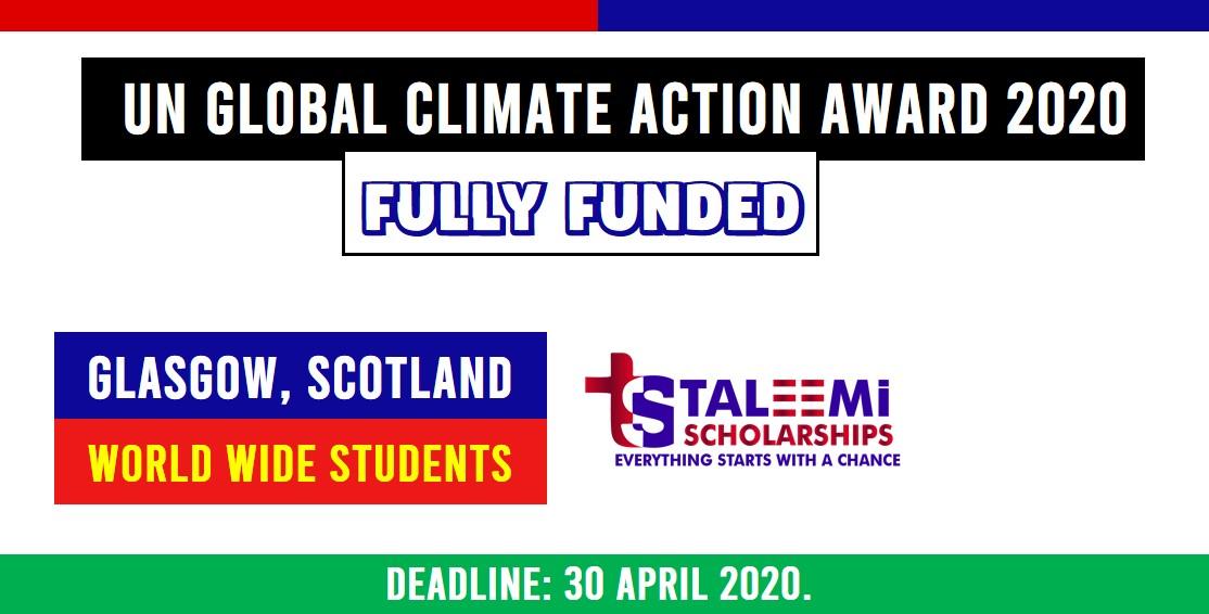 UN GLOBAL CLIMATE ACTION AWARD 2020
