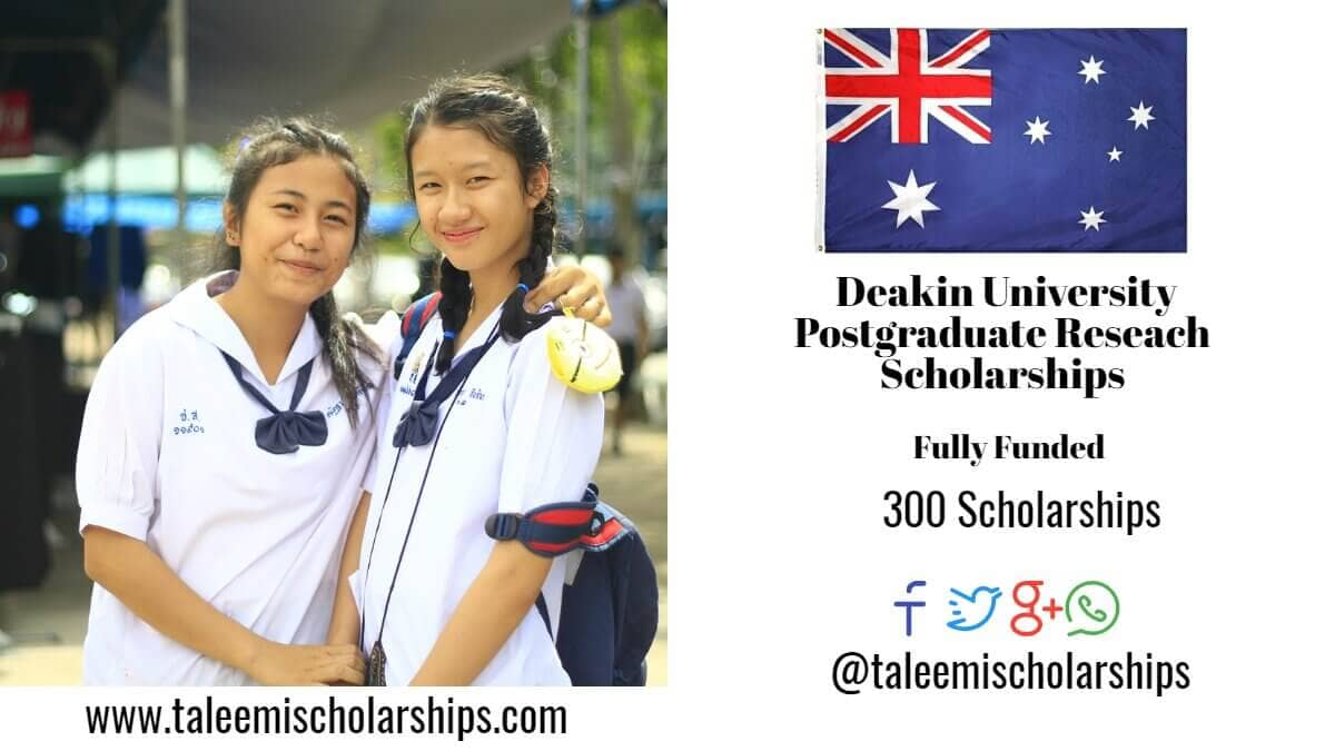 Deakin University postgraduate research scholarship