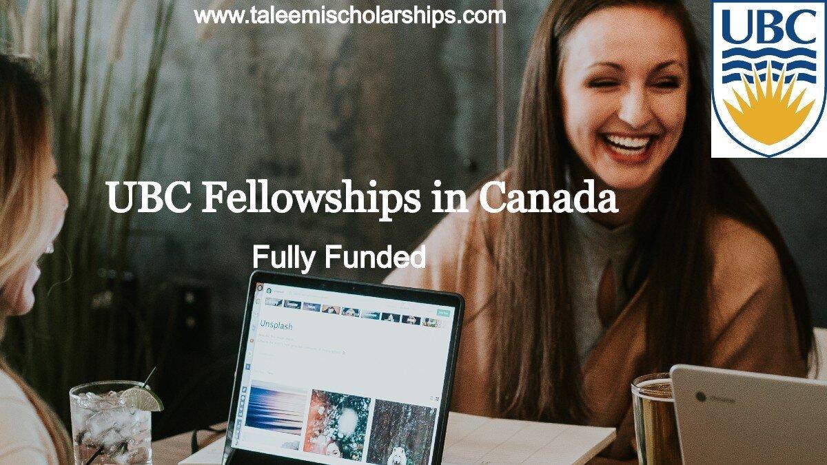 UBC Fellowships in Canada 2020