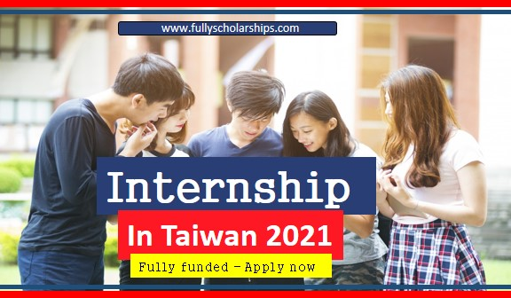 Fully funded internship in Taiwan 2021