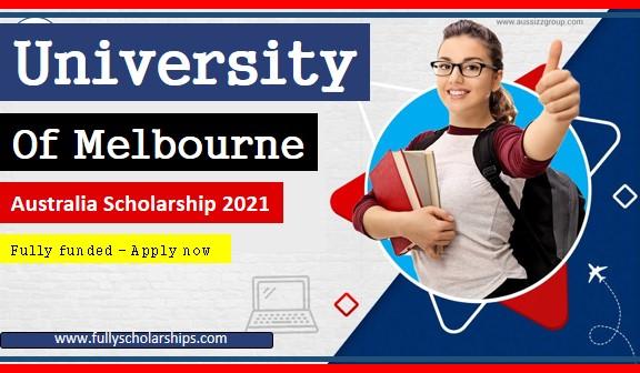 University of Melbourne Australia scholarship 2021